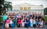 2013 Al Neuharth Free Spirit class photo in front of the White House