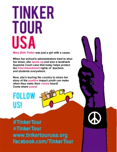 "Flyer for Tinker's ""Tinker Tour USA."""