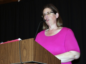 IHSPA President and Pike HS Adviser April Moss. Photo by Leslie Velez, Pike HS
