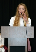 IHSPA Student Board President Haley Pritchett, Greenwood Community HS. Photo by Leslie Velez, Pike HS